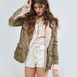 Free People Double Cloth Military Jacket Size M